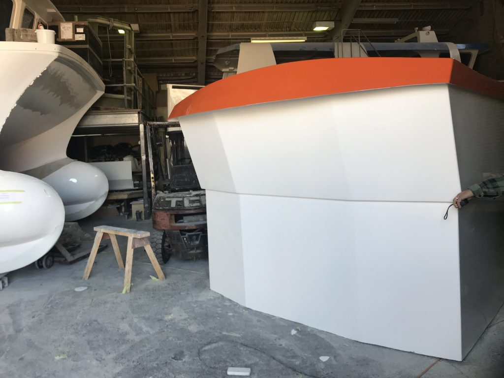 finished wheelhouse for snapper charters