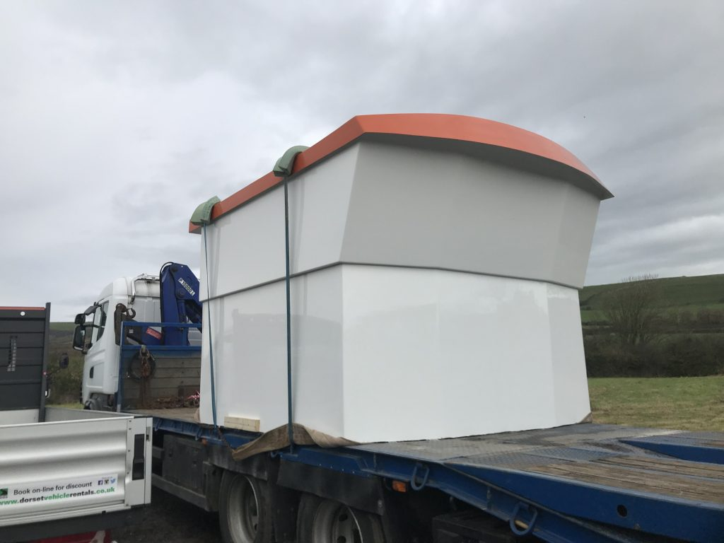 New wheelhouse being delivered to weymouth