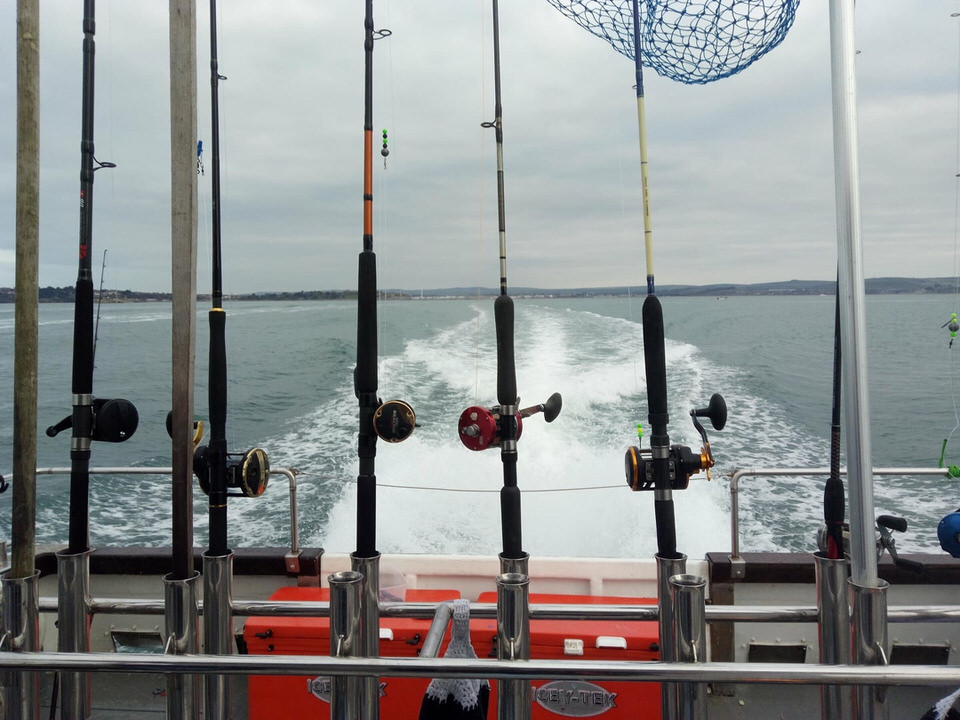 heading out to the wrecks for the weymouth pollack comp on snapper charters