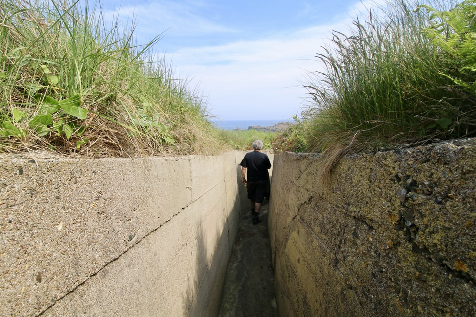 walking through the trenches in alderney