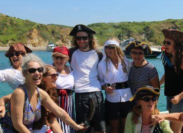 skipper luke pettis at the pirate party